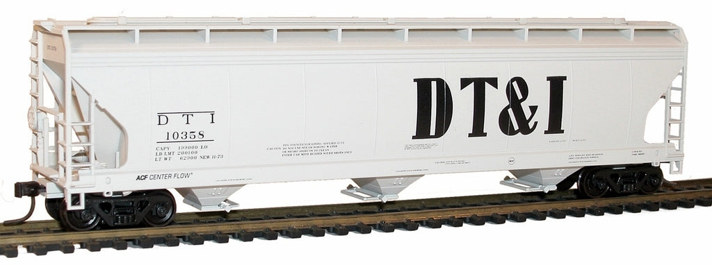 Accurail 20281 HO Detroit Toledo and Ironton ACF 3-Bay Covered Hopper Kit #10358