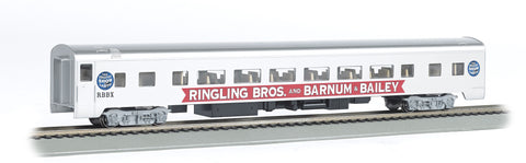 Bachmann 14206 HO Ringling Bros. and Barnum & Bailey Smooth-Side Coach - Blue Unit
