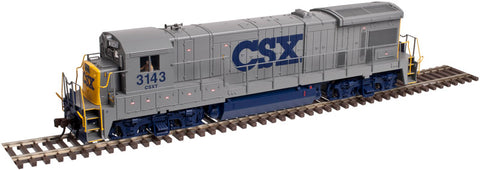Atlas 10002052 HO CSX GE B23-7 Phase 1 Low-Nose Diesel Engine with Light #3100