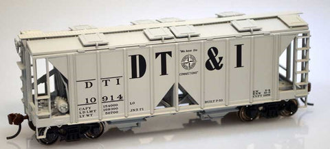 Bowser 60092 HO Dt&I 70T Covered Hopper Open Side #10914