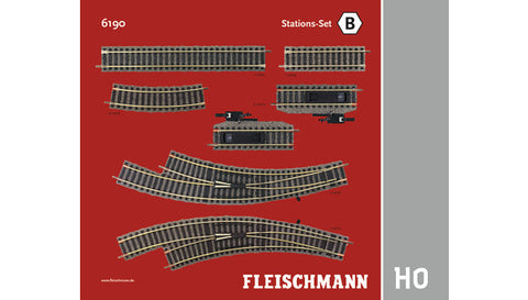 Fleischmann 6190 HO Station Set B Track Pack