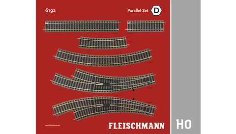 Fleischmann 6192 HO Parallel-Set D Track Pack