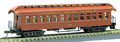 Con-Cor 231 HO Canadian Pacific 1880s Wood Open-Platform Coach Car #121