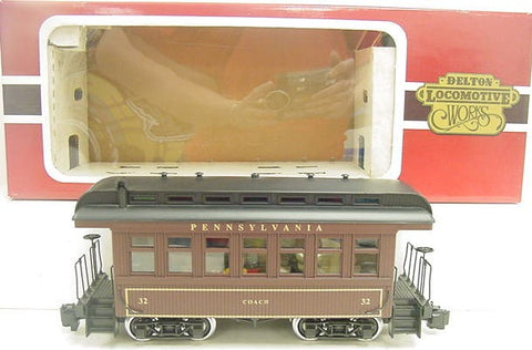 Delton 3210 Pennsylvania Illuminated  Passenger Car (Metal Wheels) LN/Box
