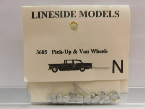 Lineside Models 3605 N Pick Up & Van Wheels