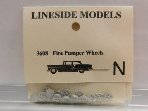 Lineside Models 3608 N Fire Pumper Wheels