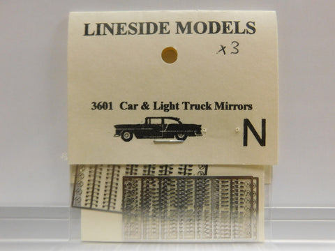 Lineside Models 3601 N Car & Light Truck Mirrors