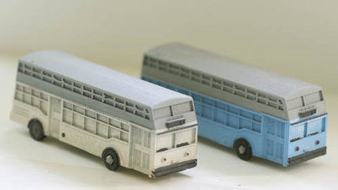 Model Tech Studios JN1093P N 1940's-50's Era Double Decker BUS, Style #2
