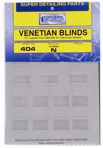 Builders-in-Scale 404 N Venetian Blinds (Pack of 17)