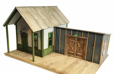 Railroad Line Models 9404 O Yardmaster's Office and Shed Kit