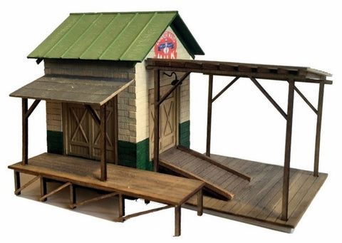 Railroad Line Models 9202 HO Farmer's Union Dairy and Produce Transfer Dock Kit