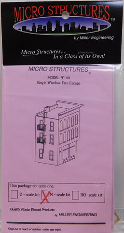 Micro Structures F-101 N Single Window Fire Escape