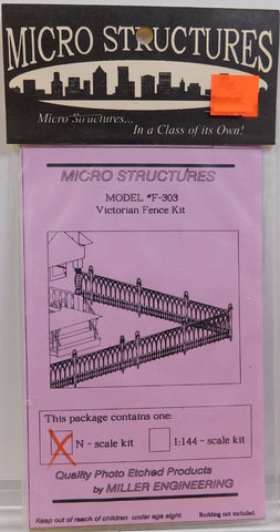Micro Structures F-303 N Victorian Fence Kit