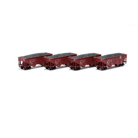 Roundhouse 70233 HO Chesapeake & Ohio 34' 2-Bay Hopper w/Coal Load #2 (4)