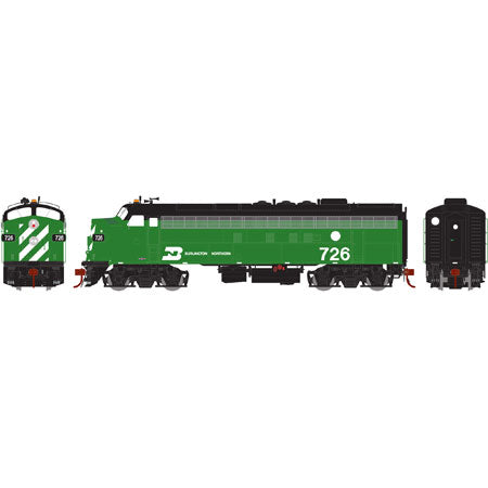 Athearn G22719 HO Burlington Northern/Freight FP7A #726