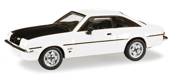 Herpa 024389 HO Opel Manta B Vintage Car in White/Black