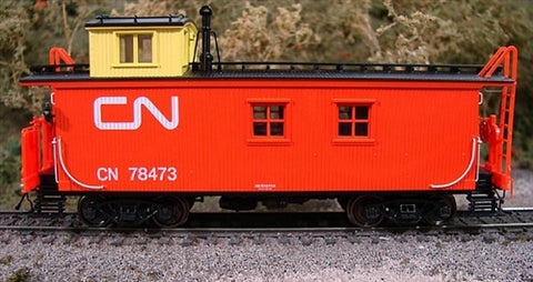 True Line Trains 301201 HO Canadian National Offset-Cupola Wood Van (Caboose)