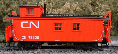 True Line Trains 301206 HO Canadian National Offset-Cupola Wood Van (Caboose)