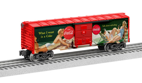 Lionel 6-84612 O Coca-Cola Vintage Pin-Up Girls Boxcar