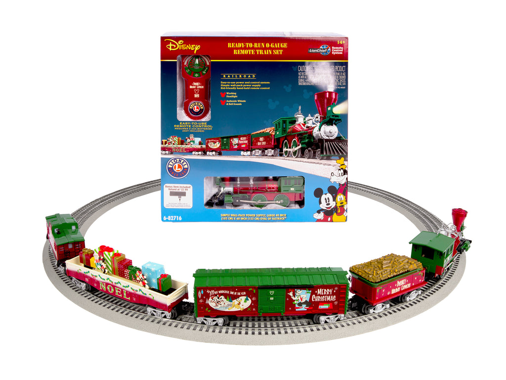 Lionel 6-83964 O Disney Mickey's Holiday to Remember  LionChief Train Set with Bluetooth