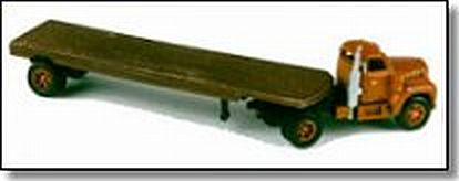 Showcase Miniatures 19 1:160 N Mack Model B Flatbed Truck Unpainted Metal Kit