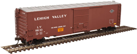 Atlas 20003997 HO Lehigh Valley 50' Postwar Single Door Box Car #8633