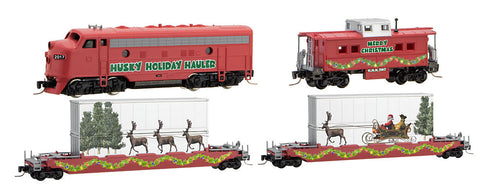 MicroTrains 99421080 Z Husky Holiday Hauler Christmas Train Set