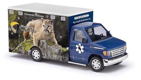 Busch 41849 HO Ford E-350 Wyoming #9 - Mountain Lion