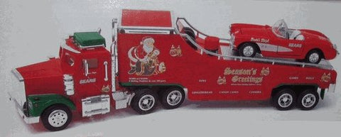 RMT 1999 O Christmas Season's Greetings Car Carrier Truck with Corvette