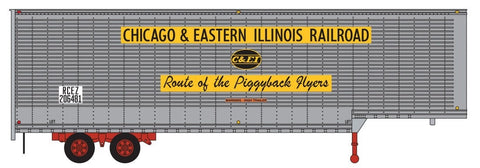 Trainworx 40303-07 N Chicago & Eastern Illinois 40' Hi-Cube Drop-Frame Van Semi Trailer #1