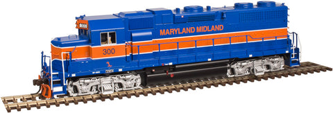 Atlas 10002398 HO Maryland Midland GP38 Low Nose Locomotive Gold Series #300