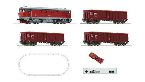 Roco 51294 HO Digital Z21®Start Set: Diesel Locomotive Class T 478 & Freight