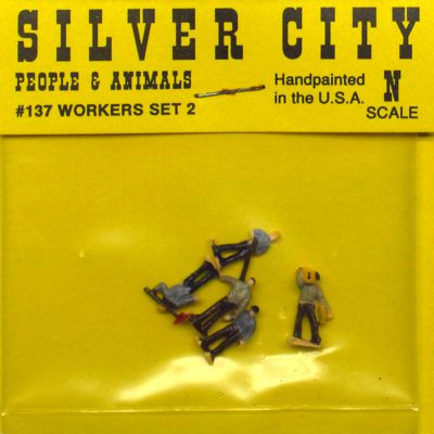 Silver City 137 N Worker Set #2 Figure Pack (5)