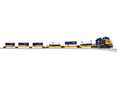 Lionel 6-83974 O CSX Diesel Intermodal Lionchief® Freight Set with Bluetooth