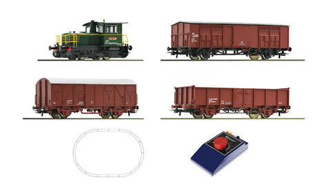 Roco 51158 Analogue Starter Set: Diesel locomotive D.214 and Freight Train, FS