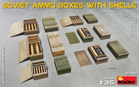 MiniArt 35261 1:35 Soviet Ammo Boxes with Shells