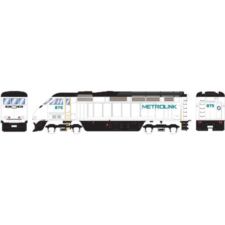 Athearn 98793 HO Metrolink F59PHI Diesel Locomotive with DCC and Sound Ready-to-Run #875