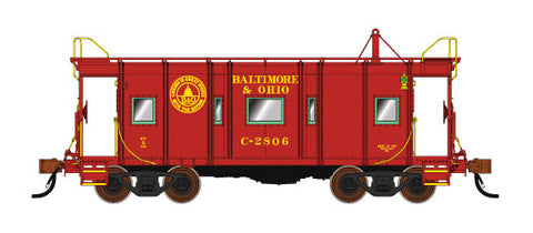 Fox Valley Models 91213 N Baltimore & Ohio Wagon Top Caboose #2400 Red