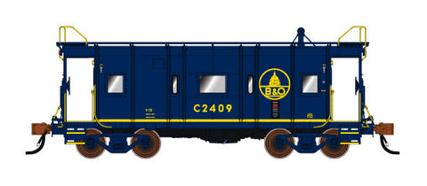 Fox Valley Models 91219 N Baltimore & Ohio Wagon Top Caboose #2408 Blue
