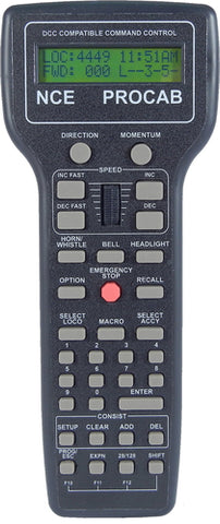 NCE 0010 Pro Cab Deluxe Master Cab Handheld Remote with LCD Screeen