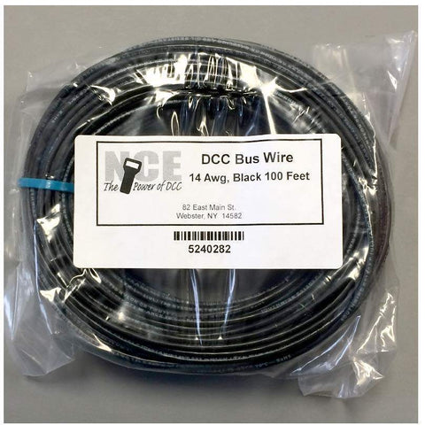 NCE 0282 DCC Main Bus 14AWG Wire Black 100' 30.5m