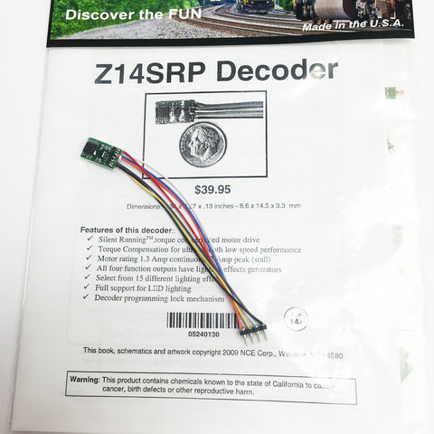 NCE 0130 N Z14SRP Tiny Generic Decoder