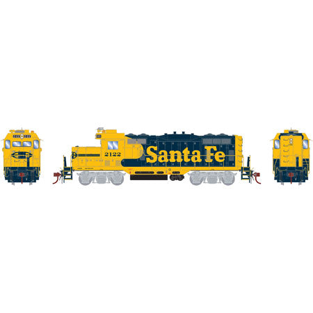 Athearn G64256 HO Santa Fe GP7u Diesel Locomotive with DCC and Sound #2122