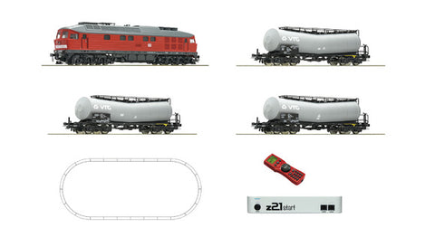 Roco 51288 HO DB AG Digital Z21®Start Set: Diesel Loco Cass 232 & Tank Train