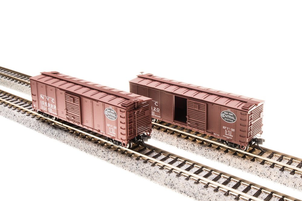Broadway Limited 3659 N NYC Steel Box Car with Corrugated Ends (Set of 4)