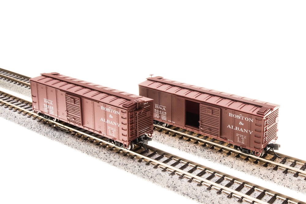 Broadway Limited 3662 N B&A Steel Box Car with Corrugated Ends (Set of 4)