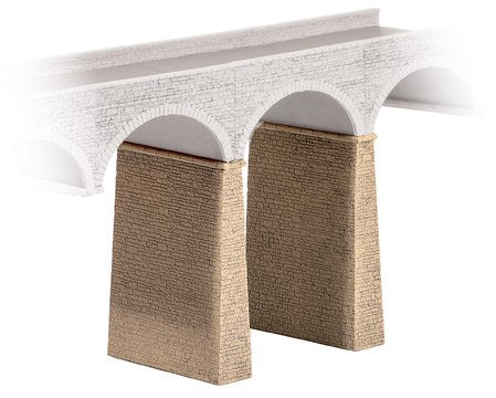 Ratio 254 N Two Stone Viaduct Piers Kit