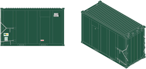Atlas 50003459 N USWX 20' High Cube MSW Trash Container Double Zeros Set #2
