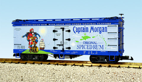 USA Trains R16431 G Captain Morgan U.S. Refrigerator Cars (White/Blue)