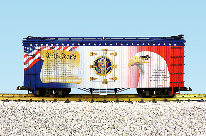 "USA Trains R16498 G ""We The People"" Patriotic Car U.S. Refrigerator Cars"